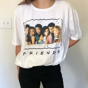 Friends oversized comfy graphic tee shirt